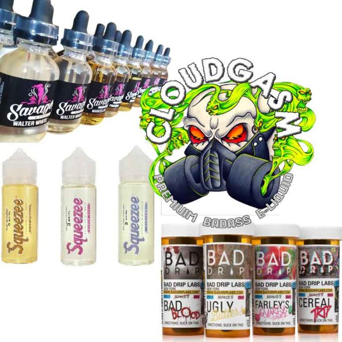 Vape Juice Glalore. Hundereds to choose from.