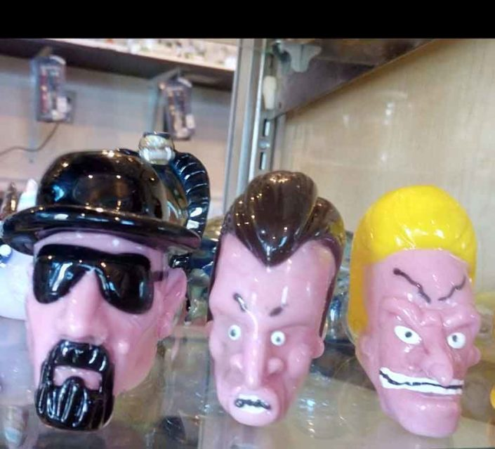 The Berg w/ Bevis & Butthead Face Pipes