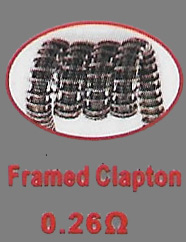 Framed Clapton Coils - 0.26 Ohm