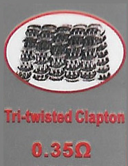 Tri-twisted Clapton Coils - 0.35 Ohm