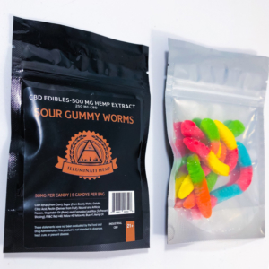 Illuminati CBD extract 500mg - Sour Gummy Worms