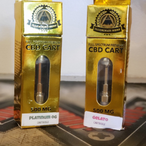 Illuminati 500mg full spectrum CBD cartridge Gelato & Platinum OG